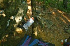 Rock Climbing Photo: Hannah on iron cross crack