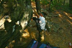 Rock Climbing Photo: iron cross crack