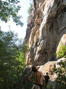 Rock Climbing Photo: who needs climbing shoes? Top That Direct 5.10b