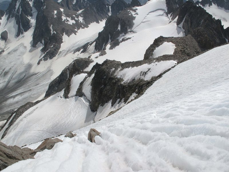 Rock Climbing Photo: Looking down the SE Couloir on the descent.  &quot...