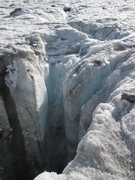 Rock Climbing Photo: Moulin and Waterfall on the Dinwoody Glacier.