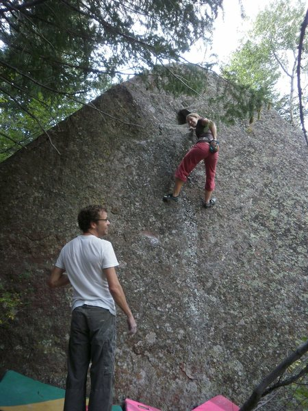 Rock Climbing Photo: Beyond the crux, lots of lichen to go.