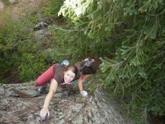 Rock Climbing Photo: The easy but tall top out....