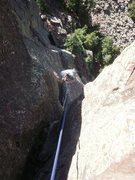 Rock Climbing Photo: Looking down on the upper half....