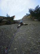 Rock Climbing Photo: Wayne cruising up YBL.