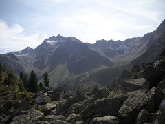 Rock Climbing Photo: Across the valley is the Frischmannhütte, where y...