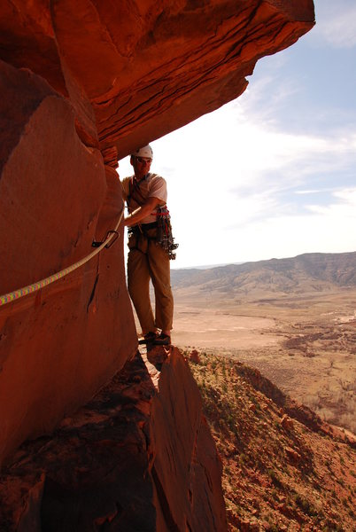 Rock Climbing Photo: Mike Clinton starting the overhang pitch on Psycho...