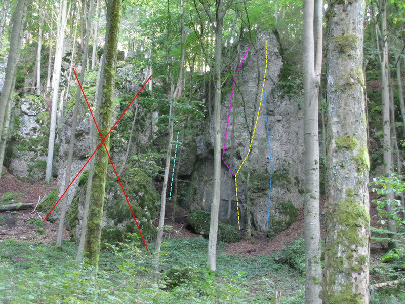 Rock Climbing Photo: Don't climb on the rock with the big X on it.  Cya...