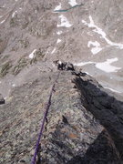 Rock Climbing Photo: Carl high on the North Arete