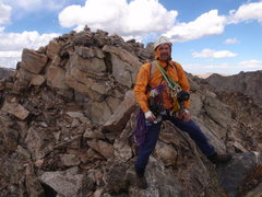 Rock Climbing Photo: Roger on Summit of Ellingwood