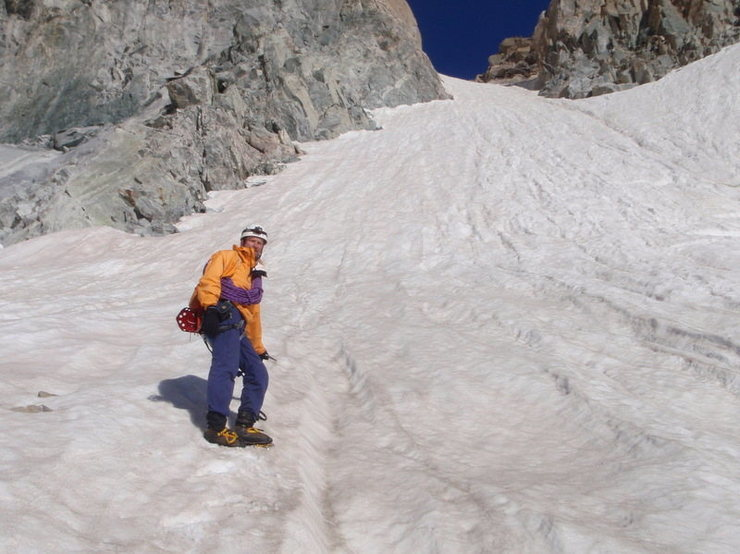 Gannett's SE Couloir leads right to the summit ridge