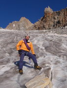 Rock Climbing Photo: Roger on Dinwoody Glacier