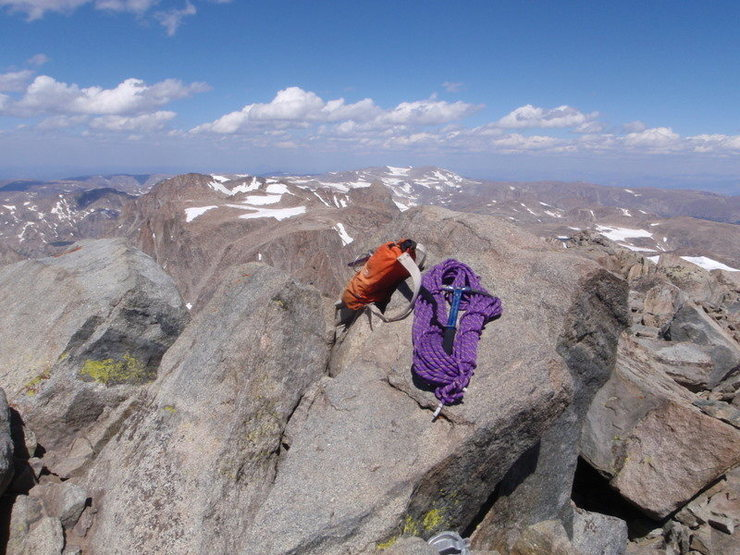 Rock Climbing Photo: Summit of Gannett Peak