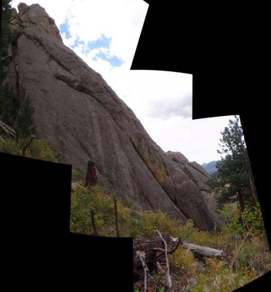 Rock Climbing Photo: Composite profile of Fantasy Ridge route