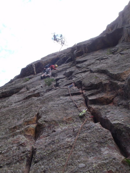 Rock Climbing Photo: North Face route