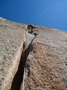Rock Climbing Photo: JAG leading pitch 6