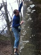 Rock Climbing Photo: Sean Ferrell looking a little concerned on Old Eng...