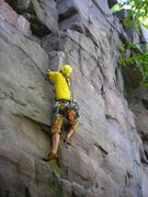 Rock Climbing Photo: Eric Pueschel sorting out the entrance moves to Th...