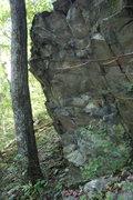 Rock Climbing Photo: left end of crag