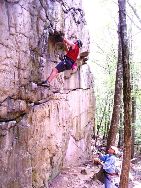 Rock Climbing Photo: college rock 5.9