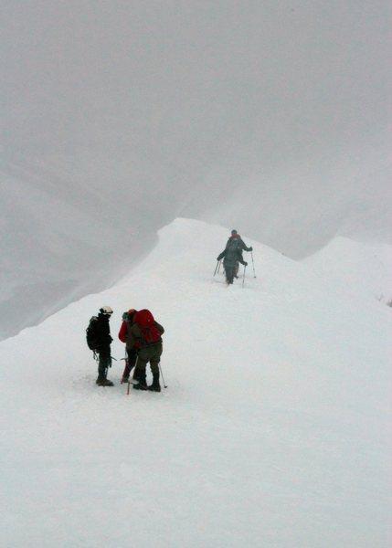 Rock Climbing Photo: Climbing up Timpanogos on Everest Ridge