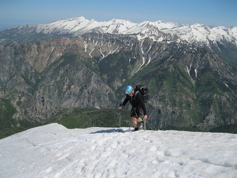 Hiking the entire ridge line of Mt. Timpanogos in Utah North to South