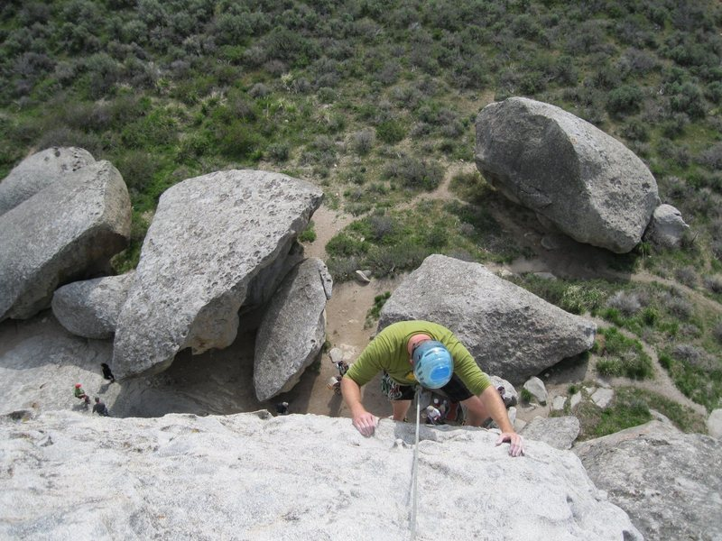 Rock Climbing Photo: Rock climbing in City Of Rocks Idaho