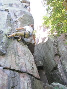Rock Climbing Photo: Good beta for the crux move.