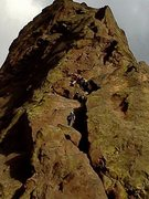 climbers on Bastille