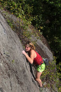Rock Climbing Photo: lily near the top of obi...