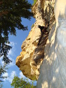 Rock Climbing Photo: Beautiful blonde rock with great movement on bad-a...