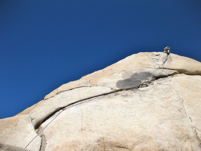 Rock Climbing Photo: top of toe jam