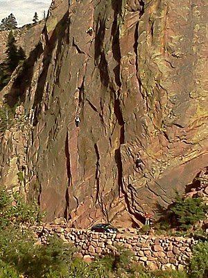 Rock Climbing Photo: Climbers at Eldo