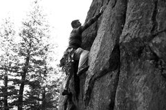 Rock Climbing Photo: Micah on pitch 1.