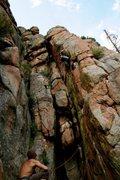 Rock Climbing Photo: Matt Bruton Belaying Sean Stellick on the Contriva...