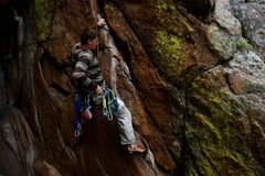 Rock Climbing Photo: Micah Morgan in the start doing better than he tho...