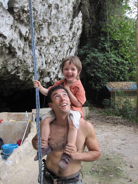 Rock Climbing Photo: Chien Lee, best climber of Sarawak, introducing yo...