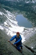 Rock Climbing Photo: Sharks Nose from Shadow Lake 1986