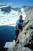 Rock Climbing Photo: Roger on West Buttress, Musembeah Peak, Wind River...