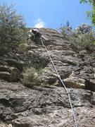 Rock Climbing Photo: Me on the FA. July 27, 2010.