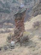 Rock Climbing Photo: Christian Burrell on top of the Horse Cock. Matt M...