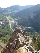 Rock Climbing Photo: From the ridge, looking toward Alta. The white cli...