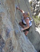 Rock Climbing Photo: Cecily partway up
