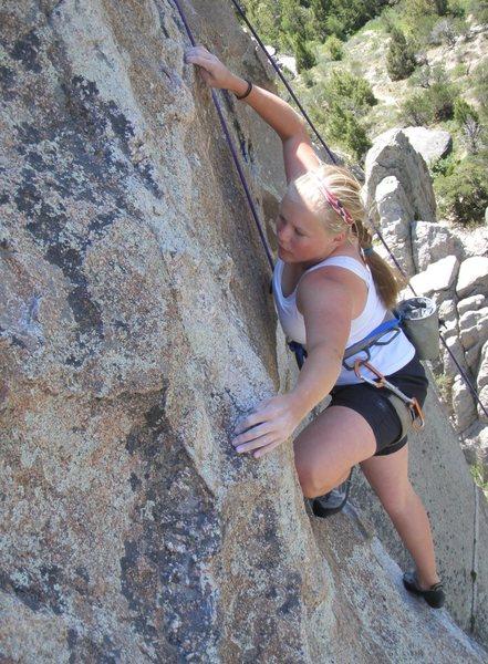Rock Climbing Photo: Cecily nearer the top