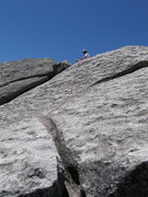 Rock Climbing Photo: top of pitch 2 - can traverse to Tribal Boundaries...
