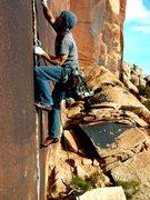 Rock Climbing Photo: Starting up Dos Hermanos.