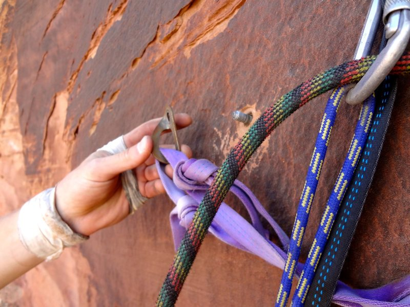 The second rappel. One of the anchor bolt's could use a new nut as of 9/13/11
