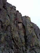 Rock Climbing Photo: Anyone know what this route is?  It had some bolt ...