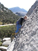 Rock Climbing Photo: partway up the pitch