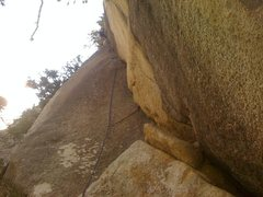 Rock Climbing Photo: Finishing up the sweet dihedral on the last pitch